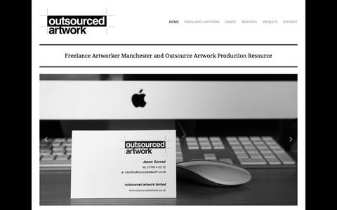 Screenshot of Home Page outsourcedartwork.co.uk - Freelance Artworker Manchester | Outsource Artwork Production Resource | Outsourced Artwork - captured Oct. 7, 2014