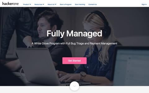 White Hat Hacker, Fully Managed Bug Bounty Program - HackerOne