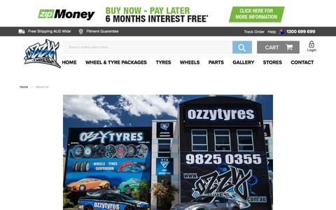 Screenshot of About Page ozzytyres.com.au - About Us - captured Jan. 16, 2018