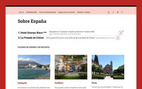 Screenshot of Home Page sobreespana.com - Sobre España -  Guía turística para viajar a España - captured April 16, 2018