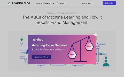 Screenshot of Team Page riskified.com - The ABCs of Machine Learning and How It Boosts Fraud Management | Riskified Blog - captured Feb. 20, 2020