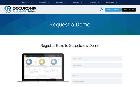 Request a Demo - Securonix
