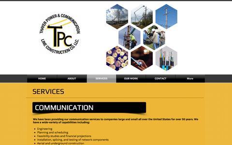 Screenshot of Services Page thayerpc.com - thayerpc | SERVICES - captured Nov. 30, 2016