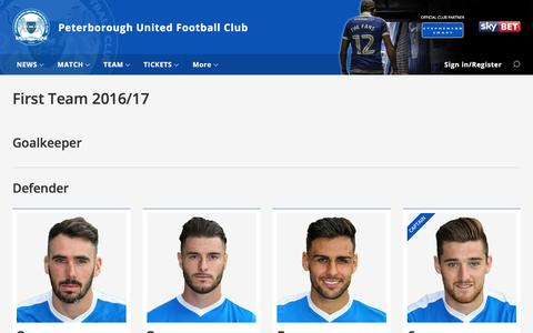 Screenshot of Team Page theposh.com - First Team - captured June 27, 2017