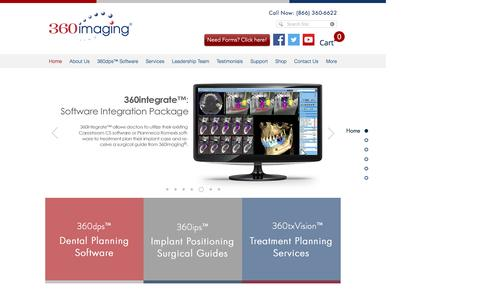 Screenshot of Home Page 360imaging.com - 360imaging® - Surgical Guides & Implant Planning Software - captured May 8, 2017