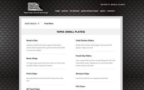 Screenshot of Menu Page therelliktavern.com - The Rellik Tavern - Menu (Food, Cocktails, Beer, Wine) - captured Nov. 7, 2018