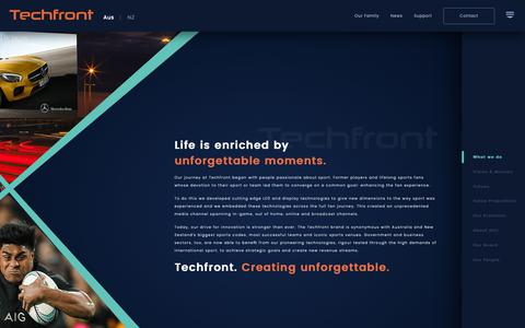Screenshot of About Page techfront.com.au - Techfront - Creating Unforgettable - captured Oct. 18, 2018