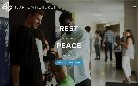 Screenshot of Home Page neartownchurch.org - Neartown Church - captured Sept. 30, 2014