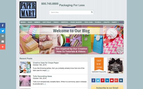 Screenshot of Blog papermart.com - Paper Mart Blog | Shipping, Packaging and Decorating | Papermart.com - captured Oct. 20, 2016