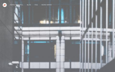 Screenshot of Home Page swipesapp.com - - Take the leap. Swipe! - captured Dec. 11, 2015