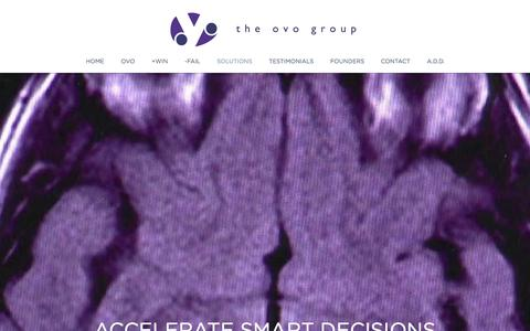 Screenshot of Home Page theovogroup.com - The Ovo Group - captured Oct. 9, 2014