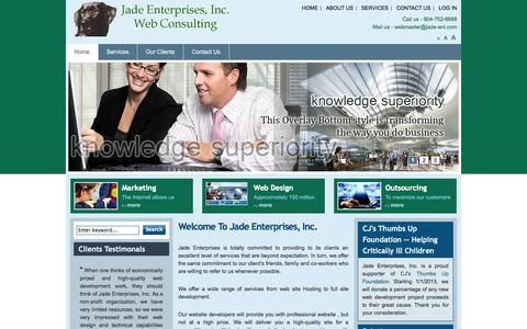 Screenshot of Home Page jade-ent.com - Welcome to Jade Enterprises, Inc. | Jade Enterprises - captured Oct. 6, 2014