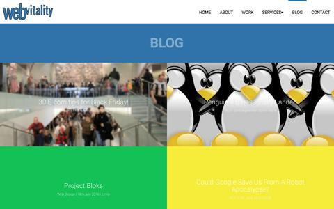 Screenshot of Blog webvitality.co.uk - Web Vitality Blog - - captured Jan. 28, 2017