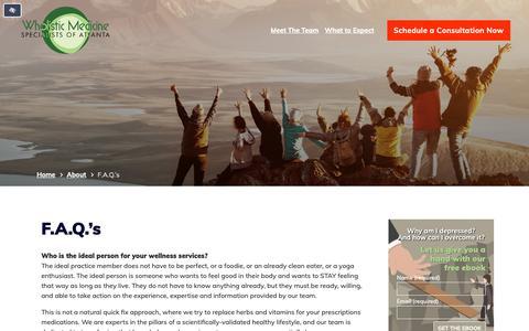 Screenshot of FAQ Page wmsoa.com - F.A.Q.'s - captured Nov. 19, 2018