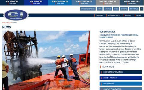 Screenshot of Press Page c-innovation.com - News - C-Innovation - captured Sept. 25, 2018