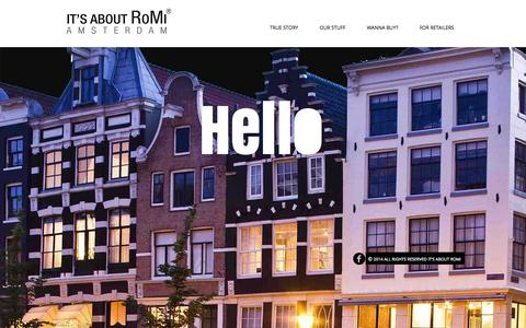 Screenshot of Home Page itsaboutromi.nl - its about romi - captured Jan. 26, 2015