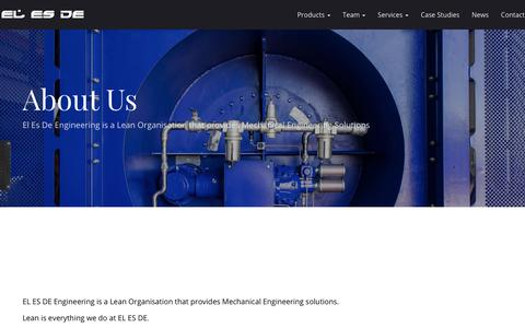 Screenshot of About Page elesde.com - About Us – EL ES DE Engineering Pty Ltd - captured July 10, 2017