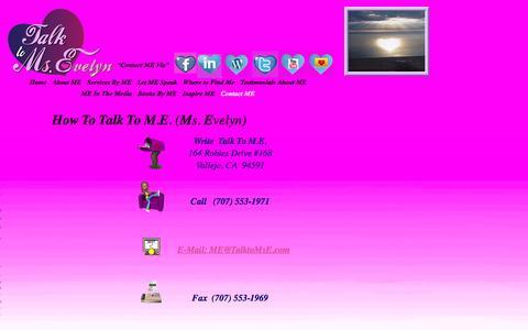 Screenshot of Contact Page talktomse.com - Talk To Ms. E - captured Nov. 6, 2016