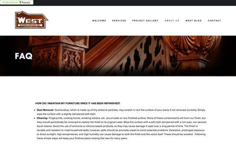 Screenshot of FAQ Page westinteriorservices.com - FAQ — West Interior Services - captured Aug. 12, 2016