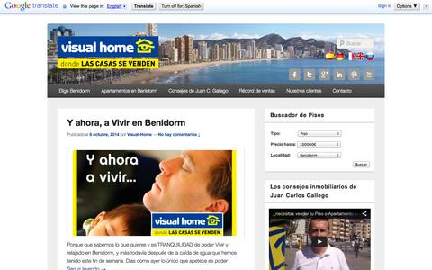 Screenshot of Blog visual-home.es - Apartamentos en Benidorm Visual-Home   Pisos y apartamentos en venta y alquiler en Benidorm - captured Oct. 9, 2014