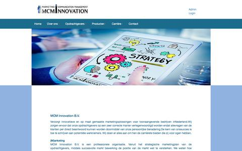Screenshot of Home Page mcminnovation.nl - Home - MCM Innovation - captured Oct. 2, 2017
