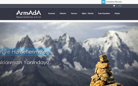 Screenshot of Home Page armada.com.tr - ArmAdA Bilgisayar Sistemleri San.ve Tic. A.Ş. - captured Oct. 4, 2014