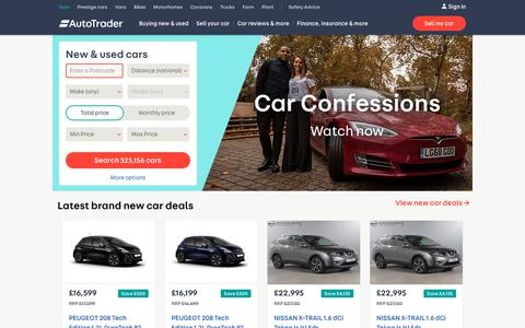 Screenshot of Home Page autotrader.co.uk - Auto Trader UK - Find New & Used Cars for Sale - captured Dec. 25, 2018