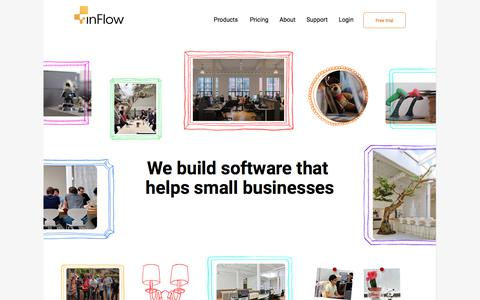 Screenshot of About Page inflowinventory.com - inFlow Inventory Software | Inventory System - About inFlow Inventory - captured July 30, 2017