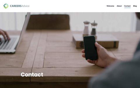 Screenshot of Contact Page wordpress.com - Contact – CAREERSAdvice - captured July 15, 2018