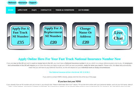 Screenshot of Home Page national-insurance-number.co.uk - National Insurance Number Fast Track – National Insurance Support - captured Oct. 19, 2018