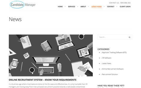 Screenshot of Press Page candidatemanager.net - Recruitement Software News - Candidate Manager - captured Sept. 6, 2016