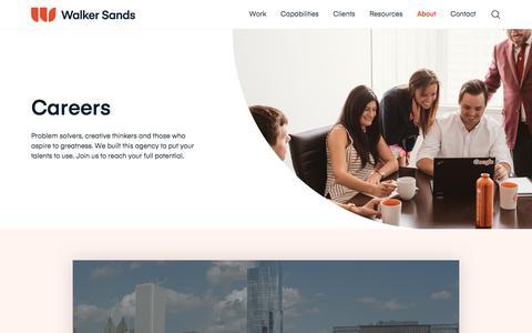 Screenshot of Jobs Page walkersands.com - Career Opportunities | Walker Sands - captured Sept. 11, 2019