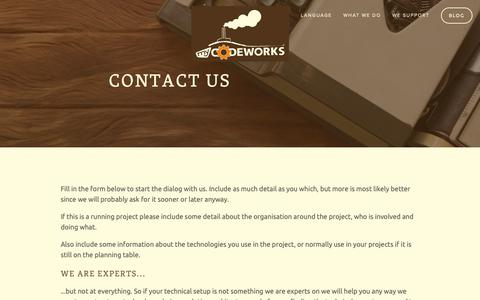 Screenshot of Contact Page my-codeworks.com - Contact — my codeworks - captured Dec. 10, 2018