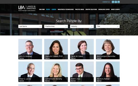 Screenshot of Team Page lalaw.com - Attorneys - captured Oct. 21, 2016
