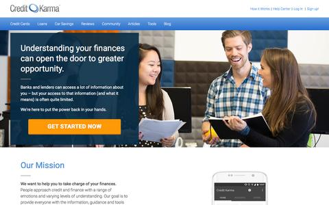 Screenshot of About Page creditkarma.com - About Credit Karma   Credit Karma - captured July 3, 2016