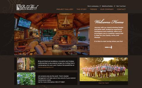 Screenshot of Home Page bellawoodbuilders.com - Bellawood Builders - captured Nov. 22, 2016