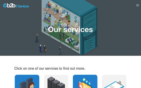 Screenshot of Services Page b2bitservices.co.uk - Services — B2B IT Services - captured Aug. 4, 2018