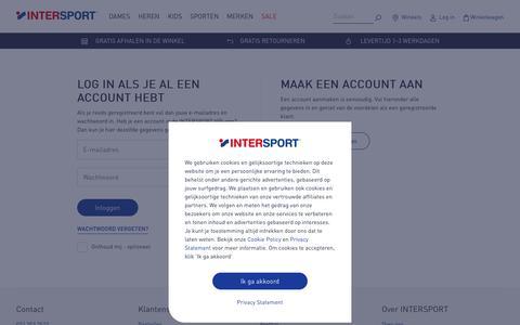 Screenshot of Login Page intersport.nl - Login - Intersport Nederland - captured Sept. 23, 2018
