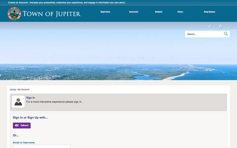Screenshot of Login Page jupiter.fl.us - Jupiter, FL - Official Website - captured June 24, 2017