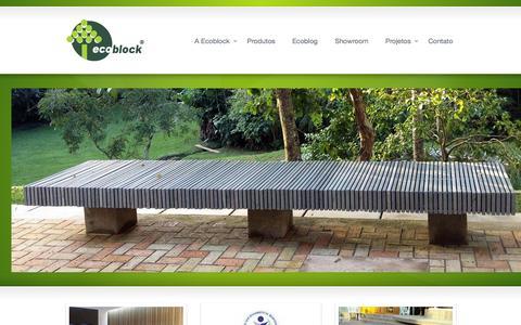 Screenshot of Home Page ecoblock.com.br - Ecoblock - captured Oct. 1, 2014