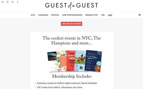 Screenshot of Signup Page guestofaguest.com - Guest of a Guest | Subscribe - captured Nov. 3, 2018