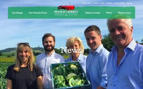 Screenshot of Press Page mashdirect.com - News   Mash Direct - captured Oct. 1, 2018