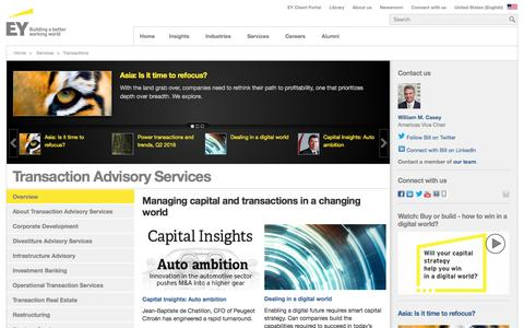 EY - Transaction Advisory Services - EY - United States