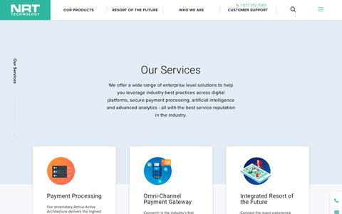 Screenshot of Services Page nrttech.com - Our services - NRT Tech : NRT Tech - captured Dec. 6, 2018