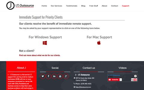 Screenshot of Support Page jitoutsource.com - Clovis, Fresno I.T. Support - Priority Support - captured Nov. 1, 2014