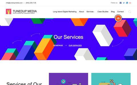 Screenshot of Services Page tunedupmedia.com - Our Services | TunedUp Media - captured Aug. 15, 2019