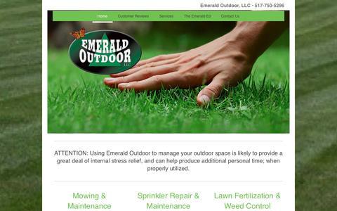 Screenshot of Home Page emeraldoutdoor.net - Emerald Outdoor, LLC - Home - captured Nov. 6, 2016