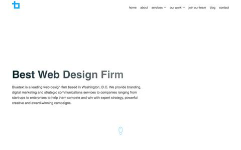 Best Web Design Firm | Bluetext