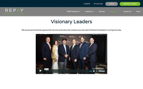 Screenshot of Team Page repay.com - Leadership - REPAY - captured July 17, 2019