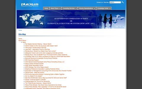 Screenshot of Site Map Page plexusconsulting.com - Plexus Consulting - captured Jan. 29, 2016